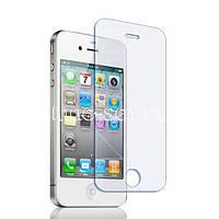 Защитное стекло на экран прозрачное для iPhone 4G/S, вл./сух.салф. BOX