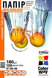 Бумага ColorWay 10х15 глянцевая 180 г/м (100 шт.)