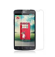 Защитное стекло на экран прозрачное для LG L70, вл./сух.салф., (уп.книжка)