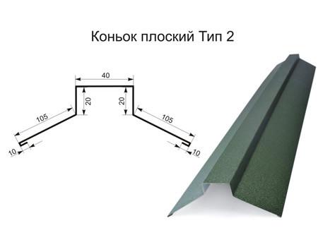 Коньок прямий(плоский) тип 2