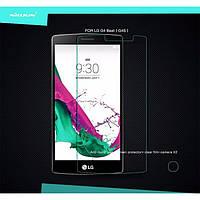 Защитное стекло на экран прозрачное для LG G4 beat, вл./сух.салф., (уп.книжка)