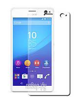 Защитное стекло на экран прозрачное для Sony С4, вл./сух.салф., (уп.книжка)