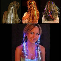 Светящееся украшение для волос, LED заколка бабочка (1 шт)