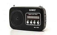 Радиоприемник дорожный WS-1300: LED дисплей, USB/CardReader, 108х69х34 мм, батарея BL-5C Li-ion