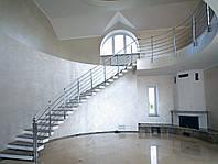Лестницы без косоуров с консольными ступенями