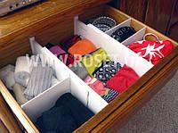 Универсальный органайзер для вещевых ящиков Expandable Dresser Drawer Dividers
