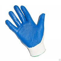 Рабочие перчатки стретчевые облитая ладонь
