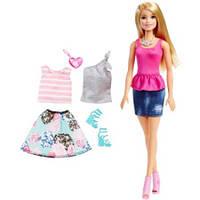 Набор кукла Барби с одеждой и аксессуарами, серия Модницы Barbie