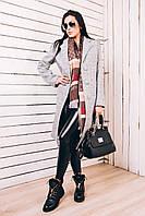 Шерстяное пальто женское Д 246 светло-серое