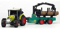 Трактор с прицепом лесоповал Dickie 3736001