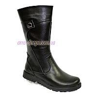 Женские зимние ботинки на низком ходу, кожа флотар