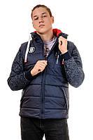 Мужская куртка-жилетка с капюшоном