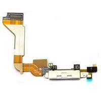 Шлейф разъема зарядки iPhone 4G WHITE