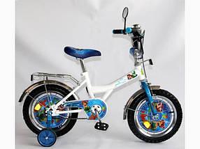 """Велосипед Русалочка 14"""" BT-CB-0020 белый с голубым, система: """"One piece crank"""" /1/"""