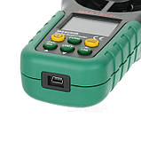 Анемометр Mastech MS6252B (EAM03) (0,20-40,00 м/с; 99990 м3/м) з USB-інтерфейсом, гігрометром і термометром, фото 2