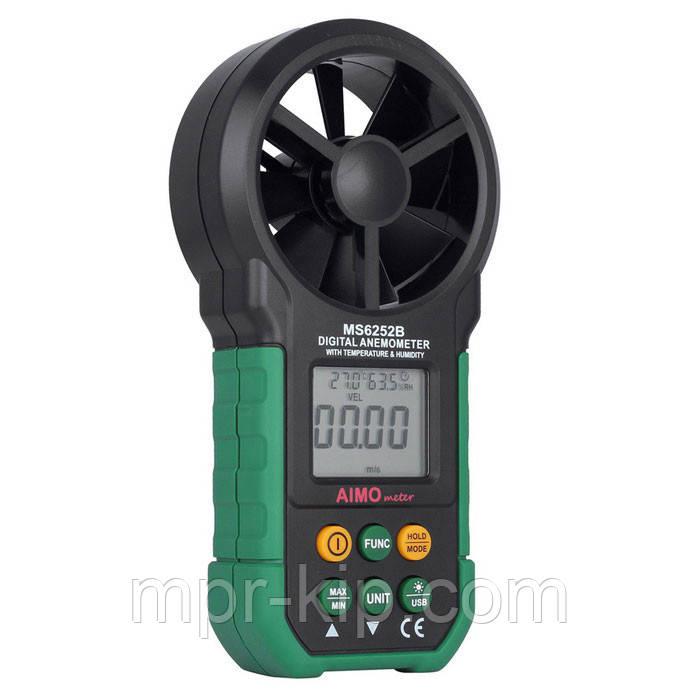 Анемометр Mastech MS6252B (EAM03) (0,20-40,00 м/с; 99990 м3/м) з USB-інтерфейсом, гігрометром і термометром