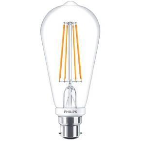 Лампа Эдисона светодиодная 7W Philips ST64 2700K диммируемая, фото 2