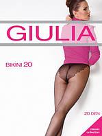 Колготы женские с изящными кружевными трусиками, плоским швом и ластовицей из хлопка BIKINI 20