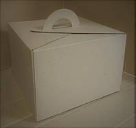 Коробка для торта, 300х300х200 мм, цвет бурый