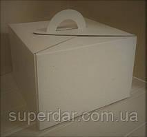 Коробка для торта, 300х300х200 мм, колір бурий