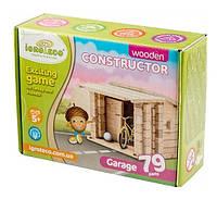 Конструктор деревянный Гараж 0026 Игротеко Руди, 79 деталей