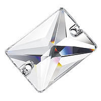 Пришивные хрустальные прямоугольники Preciosa (Чехия) 18х13 мм Crystal