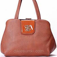 Женская сумка Gilda Tohetti рыжая, фото 1
