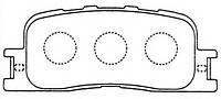 Тормозные колодки LEXUS ES300/330 (VZV3_,MCV3_) 07/2001-03/2006  дисковые задние, Q-TOP (Испания)  QE0030E