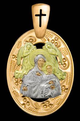 Золотая ладанка Божия Матерь Живоносный источник