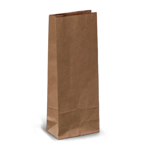 Крафт-пакеты 7x4x17 коричневые без ручек