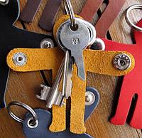 Чехол Человечек для ключей кожаный, фото 1