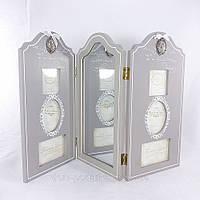Фотоколлаж - ширма 47*30 см с зеркалом в стиле прованс замечательный элемент декора купить недорого