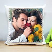 Плюшевая подушка с печатью на 1 фото