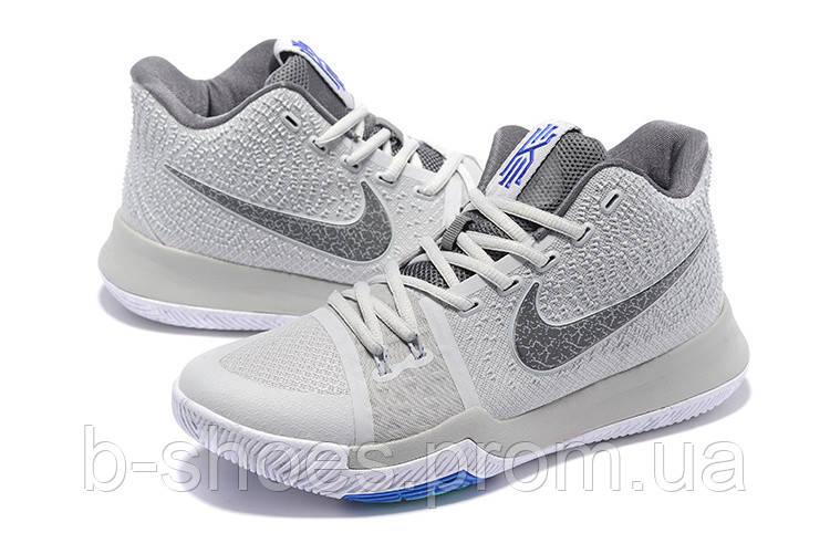 Мужские баскетбольные кроссовки Nike Kyrie 3 (Grey)