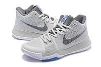 Мужские баскетбольные кроссовки Nike Kyrie 3 (Grey), фото 1