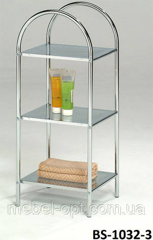 Полка для ванной металлическая, этажерка напольная BS-1032-3, фото 2