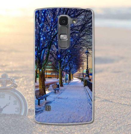 Силіконовий бампер для LG Spirit Y70 h422 з картинкою Набережна в снігу