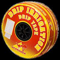 Лента Uchkuduk для капельного полива DRIP TAPE с плоским эмиттером 20 см 200м