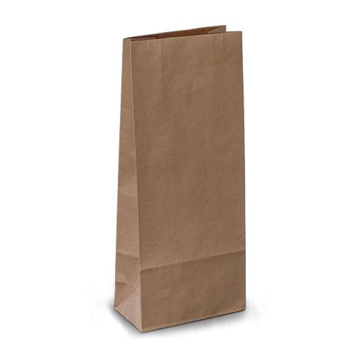 Крафт-пакеты 11x6x27 коричневые без ручек