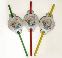 """Коктейльные трубочки с гофрой """"Мишка Тедди"""", 8 шт./уп."""