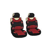 Майки сидения передние MILEX Prestige VITOL 7253 красно- черные/ велюр
