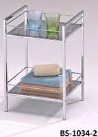 Полка для ванной металлическая, этажерка  напольная BS-1034-2