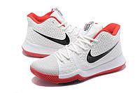 Мужские баскетбольные кроссовки Nike Kyrie 3 (White/Red), фото 1