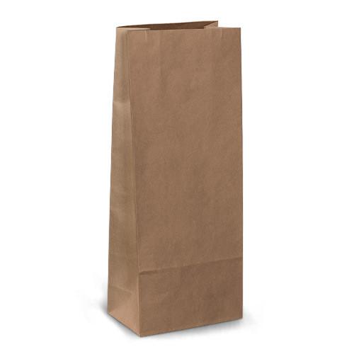 Крафт-пакеты 13x8x31 коричневые без ручек