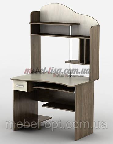 Компьютерный стол СК-8, небольшой компьютерный стол с надстройкой, фото 2