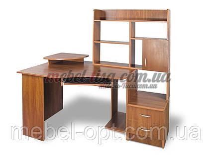 Стол компьютерный с надстройкой Эксклюзив-2, прямой компьютерный стол, фото 2