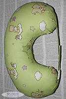 """Подушка для беременных и кормящих мам Юла Мама """"Мишка на салатовом"""""""