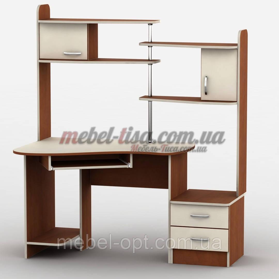 Компьютерный стол прямой с надстройкой Тиса-9