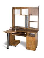Компьютерный стол СК-Юниор, компьютерный стол прямой с надстройкой