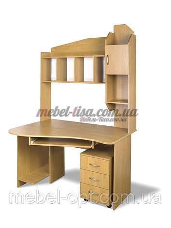 Компьютерный стол СК-Студио, компьютерные столы прямые с надстройкой, фото 2